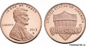 Đồng Cent là những đồng xu được làm bằng chất liệu đồng có kích thước chuẩn