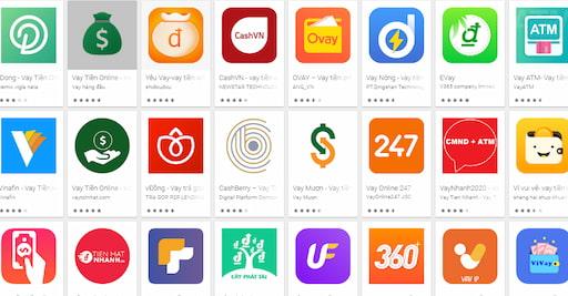 Nhiều app vay tiền online được ra đời